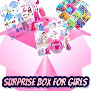 Surprise box for girls 5-14 (only 15-35$ per box)